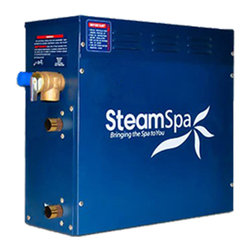 Spa World Corp - Steam Spa 9 KW Steam Bath Generator - Steam spa steam generator featuring quick start technology for quick steam production in 1 minute. Additionally, steam spa's dual tank technology will ensure a steam stream of continuous steam is flowing. And when finished, the built in auto drain will remove remaining water and from the steam generator unit.