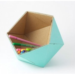 """ICO-Basket - I would probably cover my desk with about a hundred of these cute little containers. Do you think that would still count as """"organized?"""""""