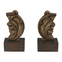 Sterling Industries - Sterling Industries Set of 2 Reclaimed Artifact Bookends (93-19294/S2) - Sterling Industries Set of 2 Reclaimed Artifact Bookends (93-19294/S2)