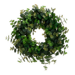 Silk Plants Direct - Silk Plants Direct Eucalyptus Wreath (Pack of 2) - Silk Plants Direct specializes in manufacturing, design and supply of the most life-like, premium quality artificial plants, trees, flowers, arrangements, topiaries and containers for home, office and commercial use. Our Eucalyptus Wreath includes the following: