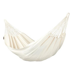 Home Decorators Collection - Modesta Ecru Single Person Hammock - Our Modesta Ecru Single Person Hammock is constructed of organic cotton for the soft, welcoming feeling you've been looking for. Hang it from your deck, between a couple of trees or on a hammock stand to create an instant oasis. 100% organic cotton. Fits our Scandinavian Spruce Single Hammock Stand, sold separately. Can also be hung using our Hammock Hardware Kit, sold separately.