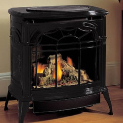 Vermont Castings Stardance Series 26'' x 27'' Vent Free Gas Stove - Slightly smaller than the Radiance® vent free stove, the Stardance® model offers the same ventless design, combining flexible installation and efficient heating into one convenient package.