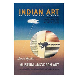 """Buyenlarge.com, Inc. - Indian Art of the United States- Paper Poster 12"""" x 18"""" - Another high quality vintage art reproduction by Buyenlarge. One of many rare and wonderful images brought forward in time. I hope they bring you pleasure each and every time you look at them."""