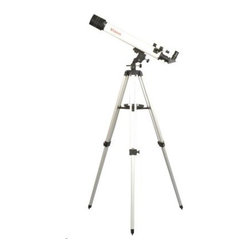 "Vixen Space Eye 70 Refractor Telescope - This """"Entry"""" Level telescope has features and quality found on many higher priced optical tubes.From the mount's slow motion handles to the diagonal eyepiece holder this telescope will get you started in your exploration of the night sky. With the included eyepieces you are ready in minutes. Set up isquickly and easily and the Space Eye 70 is light enough to travel with you. Effective Aperture: 70mm Focal Length: 700mm Resolving Power: 1.66 arc sec. Light Gathering Power: 100x Finder Scope: 5x20mm Visual Back: Insertion 31.7mm push fit Eyepiece: PL20; PL10 Altazimuth Mount with Tripod expands from 27.5"""" to 50"""" Other Accessory: Erect Image Diagonal; Accessory Tray Total Weight: 6.8 lbs"