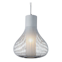 Bromi Design Grace White 1-Light Pendant