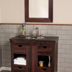 Native Trails - Cabernet Vanity - I loved this new Vintner Series from Native Trails when I saw it at the Kitchen & Bath Industry Show.  The rustic vanities were not only inspired by American wine makers, they were made from wood reclaimed from the wine-making process!