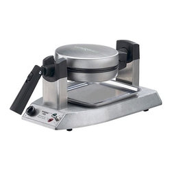 Waring - Professional Belgian Waffle Maker - Features: -Brushed stainless steel housing. -Extra deep waffle pockets. -Rotary feature ensures even baking. -Browning control knob. -Audio Beep tone indicates when ready and finished baking. -Power and ready LED indicators. -UL/CUL approved. -One year limited appliance warranty.