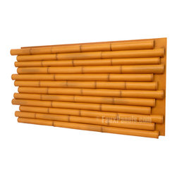 Wellington Fake Bamboo Panels, Golden - These interlocking faux bamboo panels would make the perfect wainscoting on a wall. Plus, they're available in several different finishes for a more customized look.