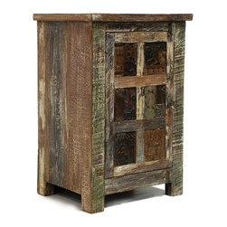Kosas Collections - Bono 1-door Nightstand - Add a rustic look to your bedroom decor with this stylish reclaimed wood nightstand. Lovingly handcrafted, this night table has a multicolored waxed finish that will match most design schemes, and it has one door to store your bedside essentials.