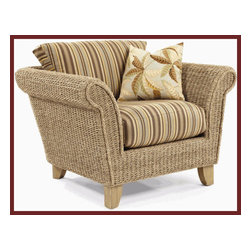 Island Way Seagrass Chair - Seagrass isn't just for rugs.  You can carry your love for texture to your furniture with a fun Island Way Seagrass Chair.  I really like that you can choose your favorite fabric from a great selection.