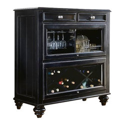 American Drew - American Drew Camden Black Collection Bookcase/Bar - American Drew-Home Bars-919589-
