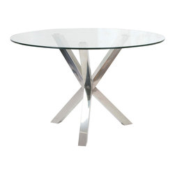 Moe's Home Collection - Redondo Dining Table Glass - Elegant Dining Table and the perfect size for any space.