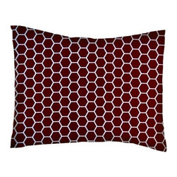 SheetWorld - SheetWorld Twin Pillow Case - Percale Pillow Case - Burgundy Honeycomb - Pillow case is made of a durable all cotton percale/woven material. Fits a standard twin size pillow. Side Opening. Features a burgundy honeycomb print.