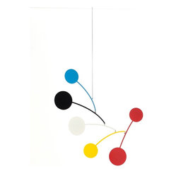 Circle Series  Mobile  Blue/Black/White/Yellow/Red