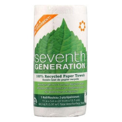 Seventh Generation Paper Towels - White - 156 Sheet Roll - Case Of 24 - Softer & More Absorbent!