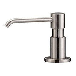 """Danze - Danze® Parma™ Soap & Lotion Dispenser - Stainless Steel - Danze® products are beautiful inside and out, from our rich, lustrous finishes to our ceramic disc valves with a Drip-Free guarantee to our solid brass waterways. Clean and modern lines define the Parma™ Collection. The minimalist design philosophy of the Parma™ will stand out without overpowering other elements of your bath or powder room. Available in multiple finishes. Features Solid brass construction Fits decks up to 2"""" thick Manufacturer's limited """"lifetime"""" warranty View Spec Sheet"""