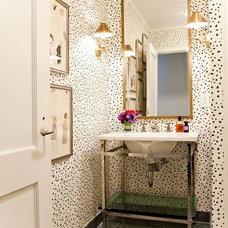 That wallpaper | {salle de bains rêveuse}