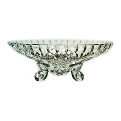Lavish Shoestring - Consigned Cut Glass Bowl on Feet, Vintage European - This is a vintage one-of-a-kind item.