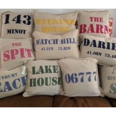 Beach Style Decorative Pillows by Marshes, Fields & Hills