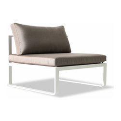 "Harbour Outdoor - Clovelly 1 Seater Armless - 100% maintenance free. Indoor style meets outdoor durability as ""Clovelly"" seamlessly blurs the lines between a fashion that was once impossible in outdoor furniture."