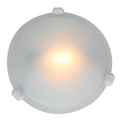 Access - Access Nimbus 1-light White 8-inch Flush-Mount - This 1-light Nimbus flush-mount gives a sleek look to any room. This fixture comes in a white finish with frosted glass.