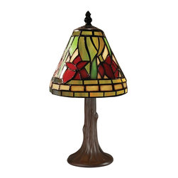 Z-Lite - Mini Table Lamp with Glass Shade - Bulb not included