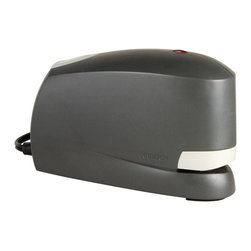 Alvin and Company - Stanley-Bostitch Electric Stapler in Black w - Busy offices will function more efficiently with this electric stapler, which features an optical sensor that fires when papers are properly in place. The unit is finished in black and includes a rubber base to protect desks and tabletops, as well as a light to show when the unit's staple supply is low. Uses standard staples. Low staple supply indicator light. Optical sensor firing mechanism. Easy push button reloading. Pictured in Black. Works smoothly on 2-20 sheets of paper. 6-Foot long power cord. Rubber feet protector. 28 in. L x 4.5 in. W x 3.5 in. H (2.31 lbs.)
