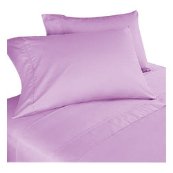 SCALA - 1000Tc Solid King Size Lilac Color Sheet Set - We offer supreme quality Egyptian Cotton bed linens with exclusive Italian Finishing. These soft, smooth and silky high quality and durable bed linens come to you at a very low price as these come directly from the manufacturer. We offer Italian finish on Egyptian cotton, which makes this product truly exclusive, and owner's pride. It's an experience and without it you are truly missing the luxury and comfort!!