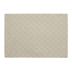 Warm Gray Pintuck Custom Placemat Set - Is your table looking sad and lonely? Give it a boost with at set of Simple Placemats. Customizable in hundreds of fabrics, you're sure to find the perfect set for daily dining or that fancy shindig. We love it in this lightweight solid light taupe cotton with textured pintucks in a small diamond pattern.