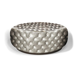 SEAN BIG ROUND OTTOMAN - MEASURES OTTOMAN:
