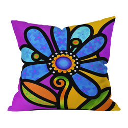 Steven Scott Cosmic Daisy In Blue Outdoor Throw Pillow - Do you hear that noise? it's your outdoor area begging for a facelift and what better way to turn up the chic than with our outdoor throw pillow collection? Made from water and mildew proof woven polyester, our indoor/outdoor throw pillow is the perfect way to add some vibrance and character to your boring outdoor furniture while giving the rain a run for its money.