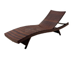 Great Deal Furniture - Lakeport Adjustable and Stacking Chaise Lounge Chair and Table Set - We guarantee that you have never seen a more beautiful outdoor chaise lounge chair & table set than this. These lounges and table is made of weather-resistant PE Wicker. Both the lounges and the table have folding legs for easy stacking while the lounge has an adjustable back. Its natural colors combine with its exotic styling to create a one-of-a-kind design that is perfectly suited for use beside a pool. The smooth, soft wicker is carefully and meticulously crafted and shaped to form gorgeous curves that not only look great, but also seemingly wrap to your body, creating a luxurious escape to peace and quiet.