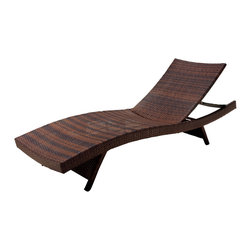 Great Deal Furniture - Lakeport Adjustable & Stacking Chaise Lounge Chair and Table Set - We guarantee that you have never seen a more beautiful outdoor chaise lounge chair & table set than this. These lounges and table is made of weather-resistant PE Wicker. Both the lounges and the table have folding legs for easy stacking while the lounge has an adjustable back. Its natural colors combine with its exotic styling to create a one-of-a-kind design that is perfectly suited for use beside a pool. The smooth, soft wicker is carefully and meticulously crafted and shaped to form gorgeous curves that not only look great, but also seemingly wrap to your body, creating a luxurious escape to peace and quiet.