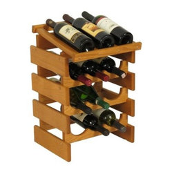 Dakota 12 Bottle Wine Rack with Display Top - Triple Row - WRD33