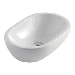 Maestrobath - Midas Ceramic Modern Vessel Sink, White - Give your bathroom an updated, stylish look with this oval ceramic ultra modern vessel sink. This luxury bathroom sink, Midas, is available in eleven different colors suitable for any powder room. This modern sink is easy to install and maintain. Maestrobath ceramic vessel sink line is ADA Compliant. Whether your decorating style is traditional or modern, Maestrobath products will compliment your home improvement project and add a lavish, luxurious feel while protecting your health, safety and the environment.