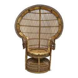 Peacock Chair - Get your own version of Morticia's favorite rattan peacock chair.