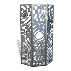 "EllingWoods Design - Modern 3 Panel Screen Room Divider - ""Ripple"" - EllingWoods Room Dividers add a high impact free standing art and design element that diffuses light and creates a visual expression for any room."