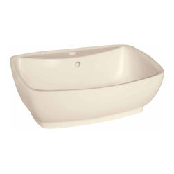 Renovators Supply - Vessel Sinks Square Bone China Paris Vessel Sink | 15306 - Vessel Sinks Above Counter: Made of Grade A vitreous China these sinks easily endure daily wear and tear. Our protective RENO-GLOSS finish resists common household stains and makes it an EASY CLEAN wipe-off surface. Ergonomic and elegant easy reach design reduces daily strain placed on your body. SPACE-SAVING design maximizes limited bathroom space. Easy, above counter installation let's you select from many countertop designs, sold separately. Measures 21 1/2 inch W x 15 1/2 inch projection