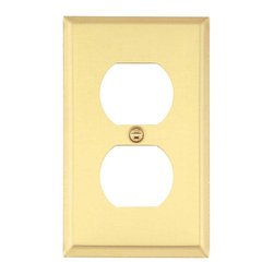 Renovators Supply - Switchplates Bright Solid Brass Single Gang Switch Plate - Single (1) gang outlet wallplate. Our solid brass outlet plates have a baked on finish that outlasts normal lacquer finishes. Every plate is protected with a peel-away plastic coating for protection in shipping. Solid brass screws are included.