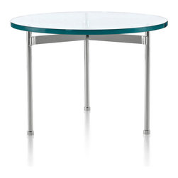 Geiger - Round Claw Table - With its thick glass top and metal base, this table has a modern minimalist sensibility. Group it with other furnishings and it will blend seamlessly. Or, let it take center stage and use it to show off works of art or flower arrangements.