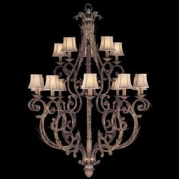 Fine Art Lamps - Fine Art Lamps Stile Bellagio 141940ST 15-Light 45'' Wide Grand Chandelier - Fine Art Lamps' artistic heritage began in the glass making factory founded by Max Blumberg in New York in the late nineteenth century. In 1940 his son Jack Blumberg gathered the finest designers sculptors and decorative artists to fulfill their vision of becoming the premier lighting manufacturer in the world and Fine Art Lamps was born. From the beginning Fine Art Lamps has achieved a high artistic standard by creating unique and original lighting designs of beautifully handcrafted metal hand-blown glass and other unique materials with exquisite hand applied finishes. In all Fine Art lamps represents the singular vision of over 700 skilled designers artists craftsman and associates working together in five plants totaling over 400000 square feet to create unique works of art for the international design community. An American Manufacturer with International AppealFine Art Lamps has a global market and universal design appeal. From its' Florida facilities Fine Art Lamps lighting travels to every corner of the world destined for the finest homes villas palaces hotels and public spaces.Fine Art Lamps has expertise in foreign wiring requirements covering every continent and customers rely upon the company's International Product Specification Brochure for accurate measurements weights and technical specifications.