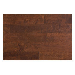 """Jasper - Jasper Engineered Hardwood - Handscraped Maple Old West Collection, Brown - [24.0 sq ft/box] - Maple - Java / 6"""" / 1/2"""" / Random Lengths -Jasper presents a richly colored line of engineered flooring. Made to reflect the beauty of each species, Jasper has designed a 7 ply constructed, 2 mm top-layered engineered floor that will adorn any suitable interior for years to come. Complete with a residential 25 year finish and structural warranty, confidence in durability and look are a given. The semi-gloss finish is bolstered by 7 coats of aluminum oxide for maximum wear resistance. With a birch cross-ply core and a versatile range of options for easy installation, Jasper's engineered hardwood floors offer toughness and elegance in equal measure."""