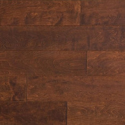 "Jasper - Jasper Engineered Hardwood - Handscraped Maple Old West Collection - [24.0 sq ft/box] - Maple - Java / 6"" / 1/2"" / Random Lengths -Jasper presents a richly colored line of engineered flooring. Made to reflect the beauty of each species, Jasper has designed a 7 ply constructed, 2 mm top-layered engineered floor that will adorn any suitable interior for years to come. Complete with a residential 25 year finish and structural warranty, confidence in durability and look are a given. The semi-gloss finish is bolstered by 7 coats of aluminum oxide for maximum wear resistance. With a birch cross-ply core and a versatile range of options for easy installation, Jasper's engineered hardwood floors offer toughness and elegance in equal measure."