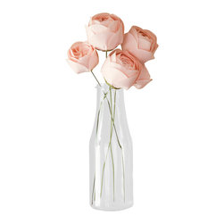 Bagsy Blue Co. - Pink Fabric Flower Arrangement - Handmade - These flowers are a gorgeous shade of pale pink.