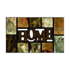 BuyMATS Inc. - Home Slate Welcome MAT - •Exciting full color design Indoor/Oudoor Entry MAT with built in channels provide high fashion appeal.