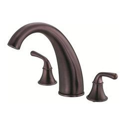 Danze Bannockburn Roman Tub Faucet Trim Kit D303656 - High-rise durable metal spout.