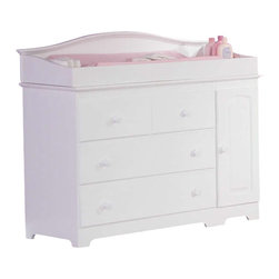 Atlantic Furniture - Atlantic Furniture Windsor 3 Drawer Changing Table in White-Changing Table with - Atlantic Furniture - Baby Changing Tables - AC6900222 - The Windsor Changing Table is space saving innovation. Changing table features three drawers and two cabinets that are great for extra storage of blankets sheets or towels. It could also become a dresser for a smaller nursery saving you some space. A large changing area on the tabletop fits a standard changing pad. The Windsor Changing Table is made of Eco-friendly Hardwood and shipped fully assembled one less piece of furniture to try to figure out for your expected precious one's room. It is available in three of our durable high build finishes and is certified non-toxic.