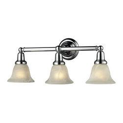 ELK Lighting - ELK Lighting 84012/3 Vintage Bath Three-Light Glass Bathroom Fixture - Specifications: