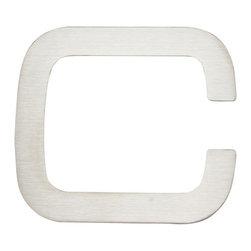 Atlas Homewares - Stainless Steel Paragon Letter C (ATHPGNCSS) - Stainless Steel Paragon Letter C