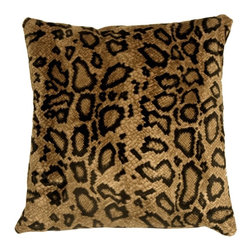 Pillow Decor - Pillow Decor - Snake Skin Velboa Faux Fur 20 x 20 Throw Pillow - The Snake Skin Velboa 20 x 20 Throw Pillow is made from an ultra soft low-pile faux fur fabric. The fur/nap is approximately 1/16 to 1/8 of an inch long and features a slightly wavy texture and design. The result is a stunning faux fur pillow in deep gold and black. Depending on the angle and light, the appearance and colors may vary slightly, giving the pillow wonderful depth and richness. This is a durable, easy to care for pillow that would be perfect in a den, family room, or any fun lounge setting.